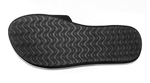 ant-slip da donna estate sandali casual pantofole casa bagno pantofole, Rose red, UK5 Black