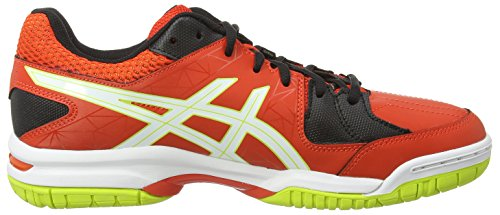 Asics Gel-Squad, Chaussures de Handball Homme Rouge (cherry Tomato/white/black 2101)