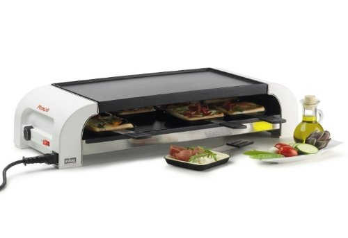Stöckli Grill Pizza for8, Antihaft, Multifunktionelles Tischkochgerät, 8 Portionen 0028.72