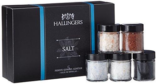 Preisvergleich Produktbild Hallingers Gewürz Mix Salt Set / Mix 5 x Miniglas in MiniDeluxe-Box,  1er Pack (1 x 150 g)
