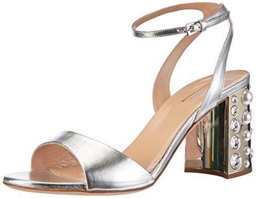 Sebastian Damen S7388lamarg Slingback Sandalen Silber (Silver)