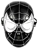 maschera Spiderman Bambino per carnevale o halloween da 5-7 anni mascherina uomo ragno Nero giochi e accessori cosplay per travestimenti e costumi fantastica idea regalo per natale o compleanno