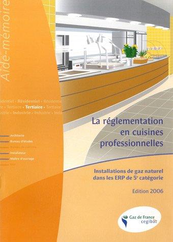 La réglementation en cuisines professionnelles : Installations de gaz naturel dans les ERP de 5e catégorie