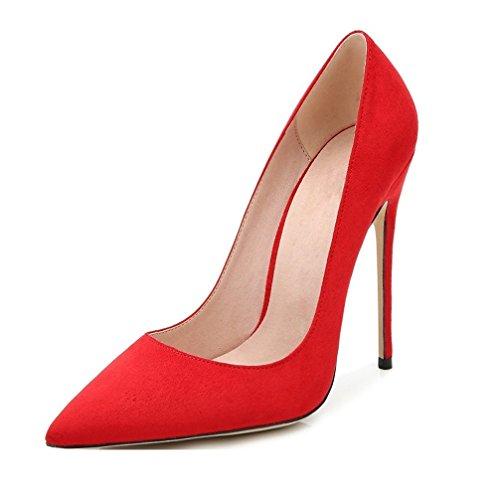 EDEFS - Scarpe col tacco donna - High Heel Pumps - Donna Tacco 12 CM - Tacchi a Spillo Donna Sexy Rosso