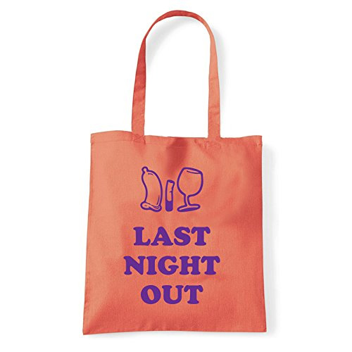Art T-shirt, Borsa Shoulder Last Night Out, Shopper, Mare Corallo