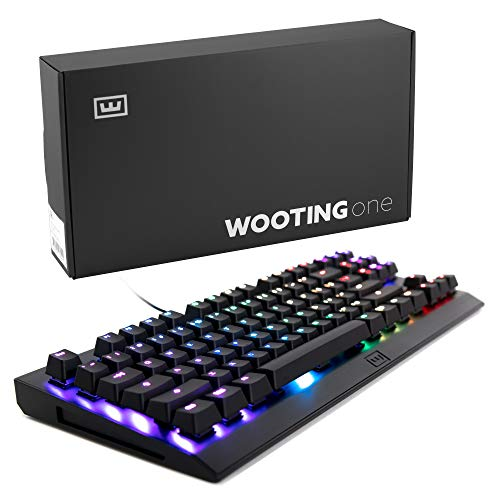 Wooting one Analog RGB TKL Mechanical Gaming Keyboard (Pressure Sensitive, Clicky55 Blue Optical Switch, 1ms Input, RGB backlighting, Aluminum Chassis, N-Key Rollover, US QWERTY Layout) - Black - Of Last Us The Pc
