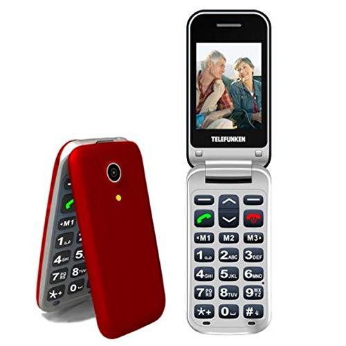 TELEFUNKEN - Teléfono Móvil Telefunken TM 210 Izy Rojo Libre - Teléfono Libre - Comprar Al Mejor Precio