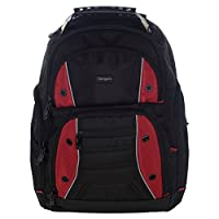 Targus TSB23803EU Drifter Laptop Computer Backpack fits 16 inch laptops, Black/Red