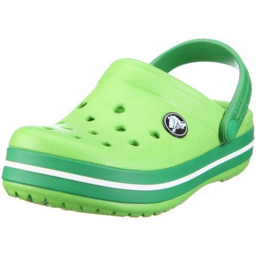 Crocs Crocband Kids, Unisex - Kinder Clogs, Grün (Lime/Kelly Green), 22/24 EU - Lime Grün Clogs