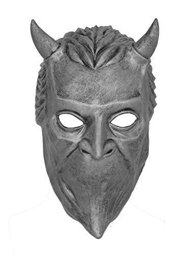 DealTrade Halloween Nameless Ghoul Maske Cosplay Kostüm Band Geist Silber Latex Gesicht Helm Herren Damen Verkleiden ()