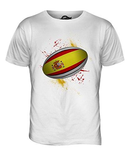 CandyMix Spanien Rugby Ball Herren T Shirt Weiß