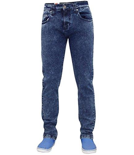Nouvelle marque trueface Homme slim fit stretch Denim Jeans Basic 5poche Western Bleu