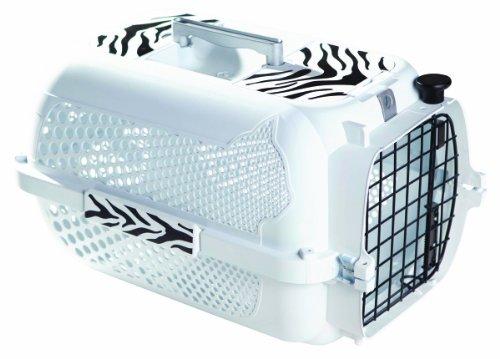 Catit/Dogit Voyageur - Transportín para Gatos/Perros, tamaño Mediano, 56 x 37 x 30 cm, diseño de Tigre Blanco