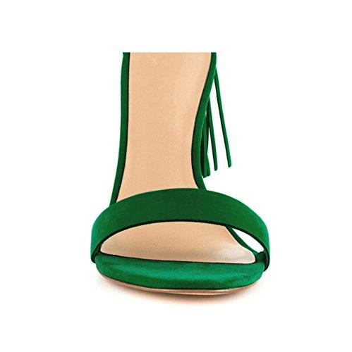 EKS Sandales Pour Femme Vert