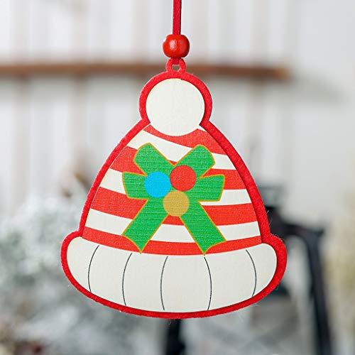 xmansky Für Weihnachten Halloween Party, Zuhause, Kamin, Hotel, Bar,Weihnachten Holzanhänger kreative kleine hängende Ornamente Dekorationen