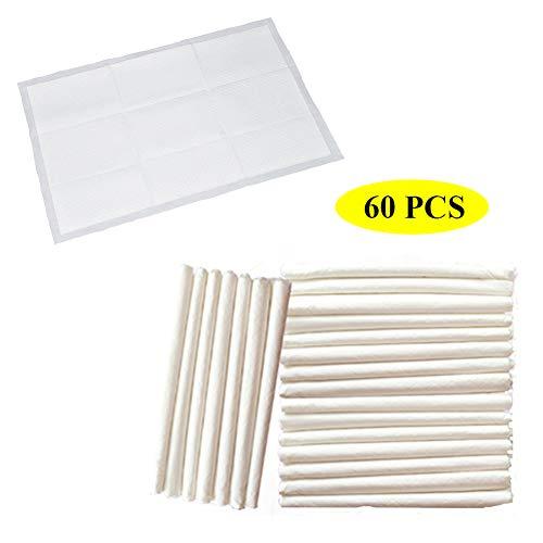Inkontinenz Einweg-Bett- und Stuhlkissen-Medizinische Harnleiterunterlagen Blätter-Absorbent Soft Bed Protector (60 * 90 cm, 60 Stück) -
