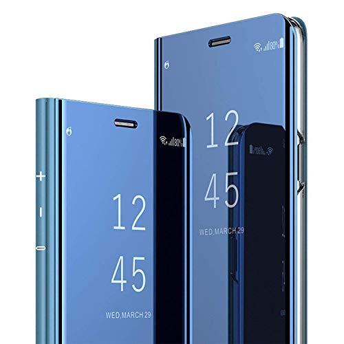 custodia per samsung galaxy s8 cover pu custodie in pelle con funzione flip mirror clear view standing cover cassa per samsung galaxy s8