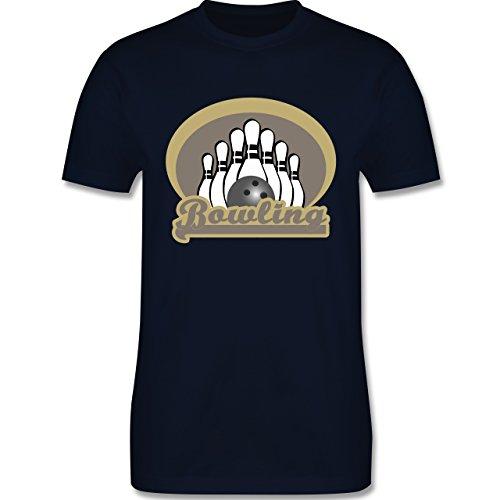 Bowling & Kegeln - Bowling Old School - Herren Premium T-Shirt Navy Blau