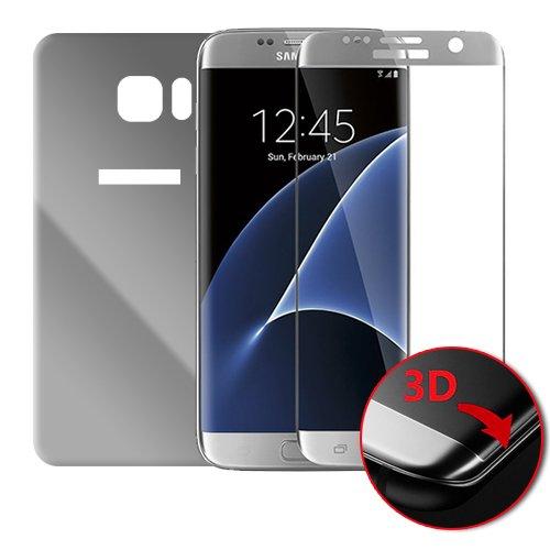Dale Spiegel (Donkeyphone Bumper Aluminium metallisch schwarz grau Tasche Spiegel Schutzhülle mit Rückabdeckung für Apple iPhone 8Plus)