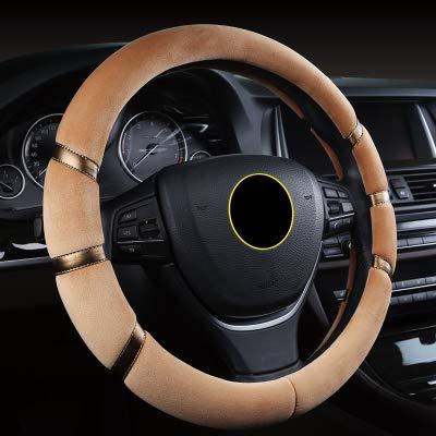 SLONGK 7 Farben Kurze Plüsch Auto Lenkradbezug Pelz Winter Warme 15 Zoll Universal Für Autos Styling Anti Slip Auto Zubehör