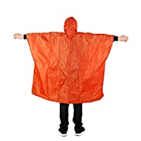 PENVEAT 3 in 1 Multifunctional Raincoat Waterproof Camping Ten Mat Picnic Mat Cycling Raincoat Impermeable Poncho Backpack Rain Cover