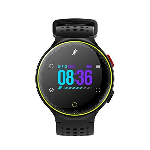 JAYE Smart Watch, Männer und Frauen Smart Watch Touchscreen Bluetooth-Anruf, Wasserdichte Herzfrequenz-Überwachung, Pedometer Multifunktionssport-Fitness-Tracker,Green