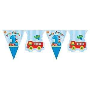 Blue Fun Geburtstags-Fahnentuch, 1 Jahr, Junge