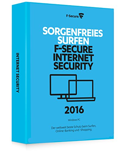 F-Secure Internet Security 2016 - 1 Jahr / 1 PC -