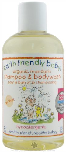 Earth Friendly baby Organic Shampoo and Bodywash Mandarin, Mandarin 8.5 OZ by Earth Friendly Baby
