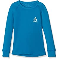 Odlo L/S Crew Neck Camiseta Térmica, niños, Azul (Mykonos Blue), 104/XXS