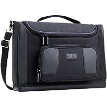 USA GEAR - Borsa per trasporto tablet, adatta per quasi tutti i modelli, panno pulizia (3 Raccoglitore Ad Anelli Divisori)