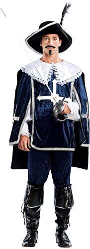 Costume di carnevale da dartagnan vestito per uomo adulti travestimento veneziano halloween cosplay festa party 4459 taglia xl