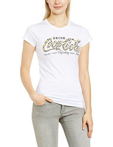 COCA -COLA Damen, T-Shirt, Coca-Cola Leapord Print Coke Weiß