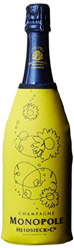 Monopole Heidsieck Blue Top Brut Champagner mit gelber Neoprenkühlmanschette (1 x 0.75 l)