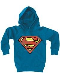 bcbd63874d3680 Logoshirt Sweatshirt con Cappuccio per Bambini Superman Logo - Felpa per  Bambini con Cappuccio DC Comcis - Il Supereroe…