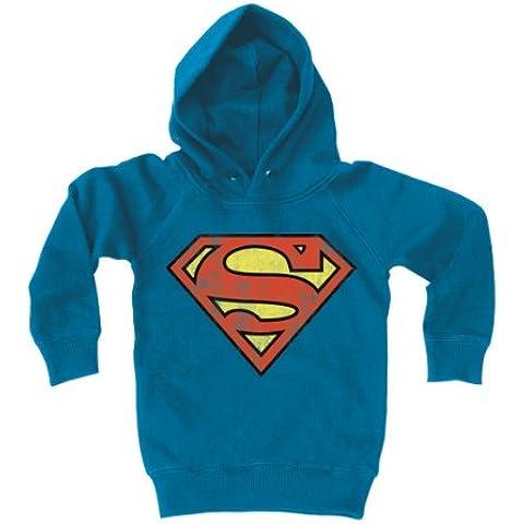 Sudadera con capucha para niños Superman Logotipo - DC Comics - Superman Logo - Suéter con capucha para niño - Azul - Diseño original con licencia - LOGOSHIRT