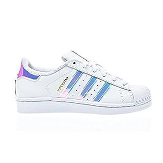 adidas Unisex-Kinder Superstar J AQ6278 Gymnastikschuhe, Weiß FTWR White/Metallic Silver-SLD, 38 EU
