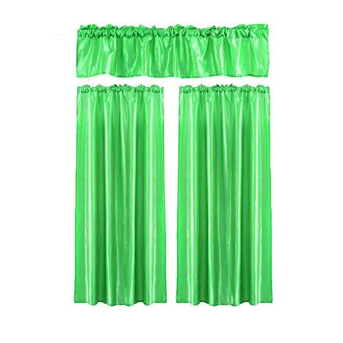 Xmiral Türvorhang Einfarbig Halbtransparent Gardine Vorhang hängen Dreiteilig Für Kinderzimmer Wohnzimmer Schlafzimmer(Q,100cmx70cm/30cmx100cm)