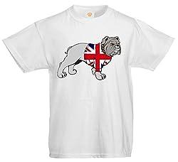 British Bulldog Great Britain Team GB Union Flag Sweater UK Sport Kids T shirt - Boys Girls Tee - Children Tshirt