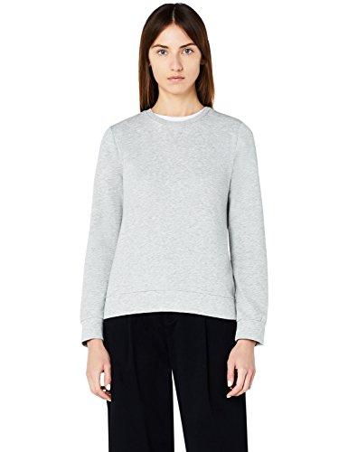 MERAKI Sudadera Básica Mujer, Gris (Grey), X-Small