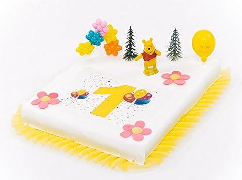 Décoration de gâteaux 1er anniversaire Winnie l'Ourson 9pièces gâteau aufleger gâteau décoration gâteau anniversaire d'enfant pour jeune fille