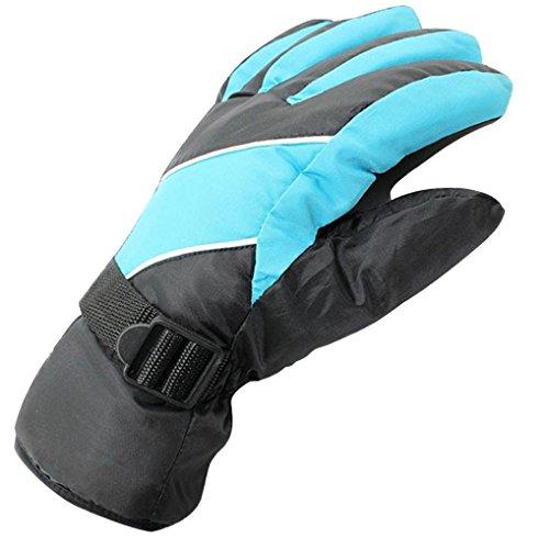 Guantes de esquí y snowboard, deportes extremos, impermeable y resistentes al viento, calor térmico, azul