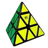 OJIN QiYi MO Fang GE Qiming A Pyraminx Magic Cube MoFangGe Pirámide Triángulo de Cuatro Ejes Tetraedro Velocidad Puzzle Cubo Suave torneado Cube Juguete (Negro)