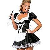 Cosplay-Kostüm, französisches Dienstmädchen, Erwachsenenschürze, Kostüm, Kostüm, Kostüm, Kostüm, Kostüm, Übergröße M - XXXL m M