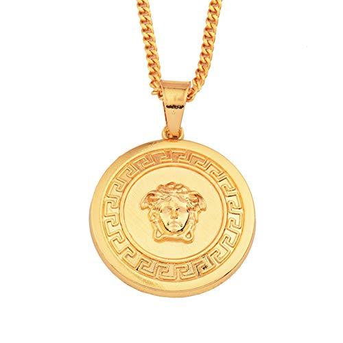 ORKST Medusa Silver Pendant Alloy Necklace für Herren und Damen, Jewelry A ccessories