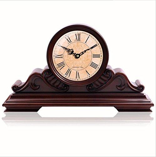 Retro Antiguo De Madera Chimenea Reloj Decoración Del Hogar Estudio Dormitorio Silencioso...