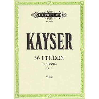36 Etüden für die Violine Opus 20 / 36 Etudes pour Violon