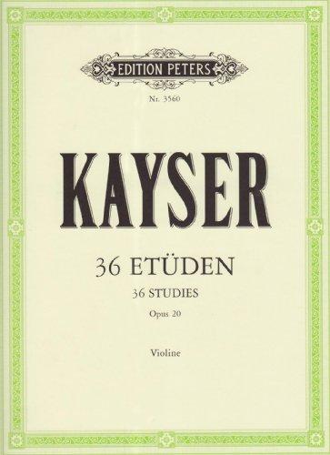 """36 Etüden op. 20 """"Für die Violine"""""""""""