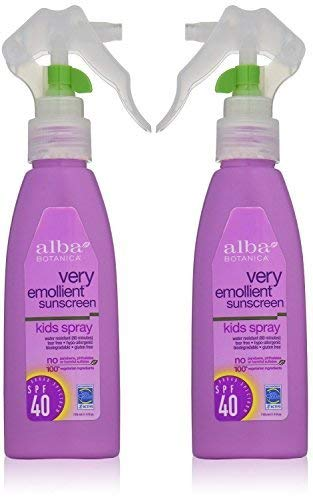 Naturals Sunblock Spray (Alba Botanica Natural Protection Kids Spray SPF 40 Very Emollient Sunscreen, 4 Ounce Spray Bottle by Alba Botanica)