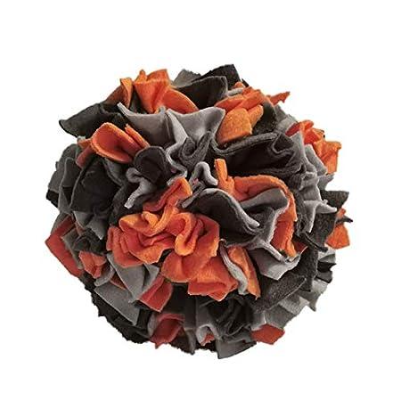 Schnüffelball hochwertige Handarbeit ca. Ø 20cm orange/grau/Silbergrau